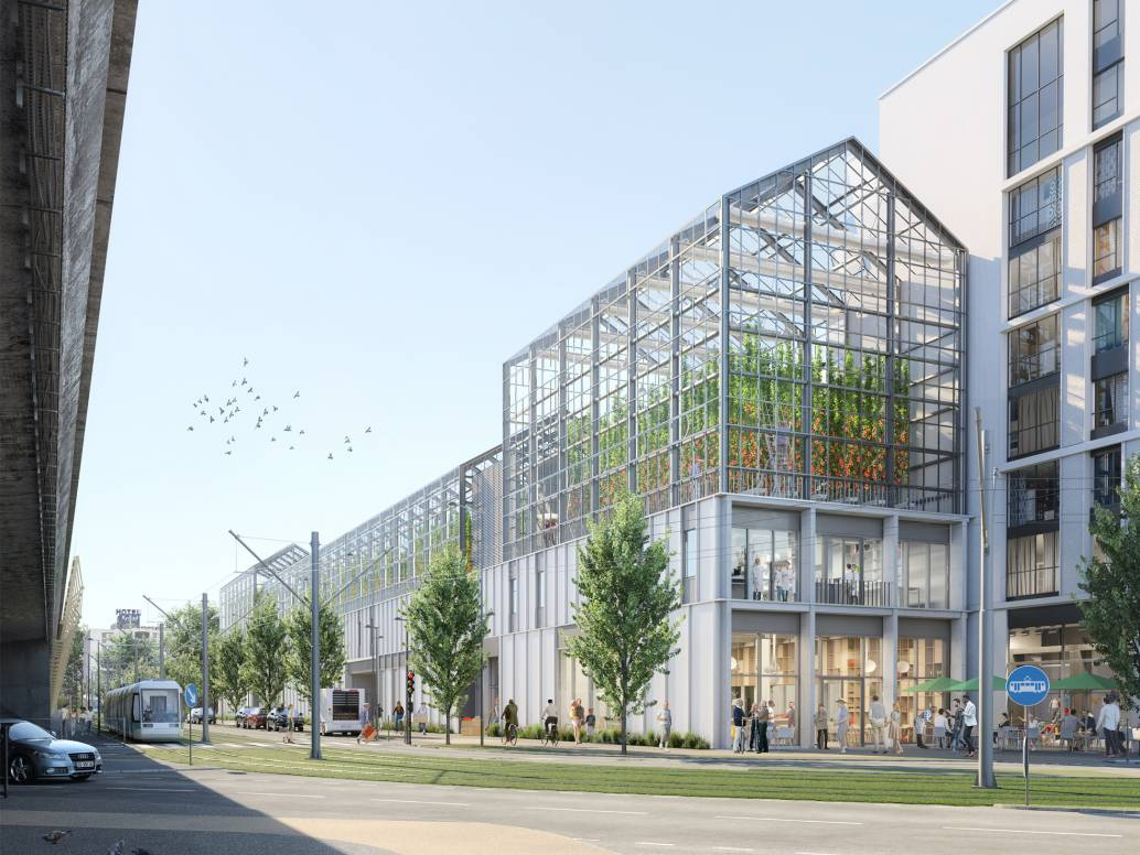 Rendering of Vertical Farm